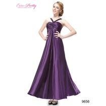 Elegante Vestido Violeta. Ideal Fiestas, Bodas