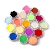 Set Polvo Acrilico Polimero 18 Colores Para Uñas