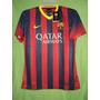 Camiseta Barcelona Local 2013 / 2014 Dorsal Limpio