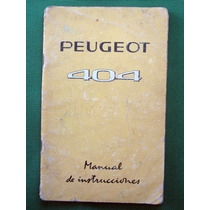 Manual Peugeot 404 Original
