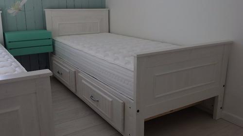Cama con cajones 1 plaza 190000 trznn precio d chile for Precio de cama de 1 plaza