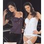 Sexy Corset Con Portaligas - Lady Genny - Color Uva O Blanco