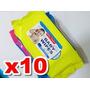 10 Baby Wipes De 80 Toallitas Húmedas+aloevera+lanolin X 10
