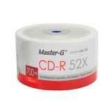 600 Cd-r Imprimibles Master-g 52x 700mb 80 Min Bulk