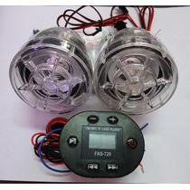 Radio De Moto Control Al Volante Micro Sd Resistene Al Agua