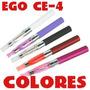 Cigarro Electronico Ego Ce4+liquido 10ml+cargador 5 Colores