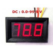 Voltimetro Digital Mide De 0 A 99,99 Volts Con Lcd Rojo