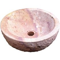 Lavamanos De Piedra Rosada