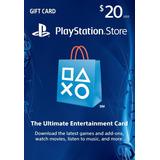 Psn Card 20 - Playstation Network Card [ Código Digital ]