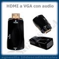 Cable Adaptador Conversor Hdmi Vga Digital Análoga Hd Audio
