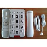 Teléfono Adultos Mayores - Números Grandes - Color Blanco
