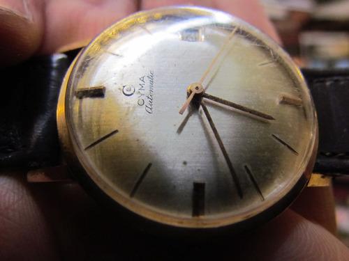 37ea62f1f3e6 Reloj Automatico De Oro 18k Marca Cyma Funcionando