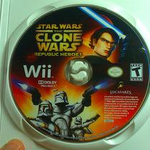 Stars Wars Clone Wars Republic Heroes, Consola Wii B/estado.