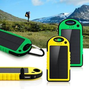 Cargador Portatil Solar /  Usb / Linterna Outdoor Trekking