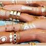 Tatuajes Dorados Y Plateados