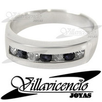 Anillo De Oro Blanco 18k 4.5 Gr Con Cristales Swarovski