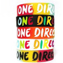 **pamelaurzua One Direction Pack 5 Pulseras Silicona Gruesa