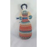Muñeca Tela Y Cabeza De Porcelana Marca Avon