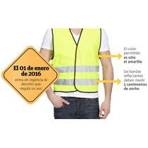 Chaleco Reflectante Amarillo Fluor Seguridad Obligatorio