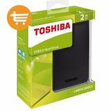 Disco Portatil Toshiba Canvio 2tb, Sistema Antigolpe, Nuevos