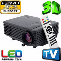 Mini Proyector Led 1080p Hd, 1800 Lumenes,103¨, Soporta 3d
