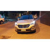 Hyundai Santa Fe Top De Linea Full Cuero Llantas Dvd Gps Tv