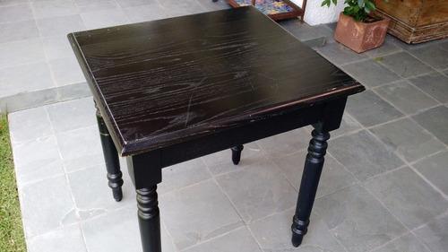 mesas negras cuadradas x x