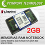 Memoria Ram Notebook Ddr2 800 Mhz 2gb Kingston A Todo Chile