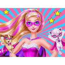 Kit Imprimibl Barbie Super Princesa Diseña Tarjeta Cotillon1