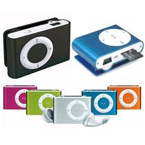 Mp3 Shufle Con Ranura Micro Sd Hasta16gb Audifonos Tipo Clip