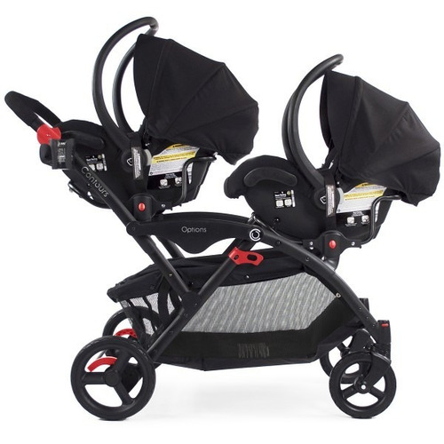 5b9b09c74 Coche Doble Contours Elite Grafito Y 2 Sillas Baby Trend
