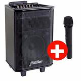 Parlante Activo Karaoke Bluetooth Profesional + Microfono