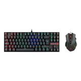 Kit Gamer Redragon Teclado + Mouse Rgb K552-ba - Revogames