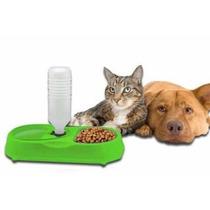 Dispensador De Agua Y Comida Para Mascotas Perros Y Gatos