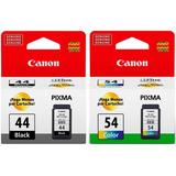 Pack Tinta Canon 44 Negro Y 54 Color Original 12 Cuotas - We