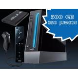 Nintendo Wii 2 Mandos 500gb 1500 Juegos Wii Y Emulador +hdmi