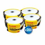 Pack 200 Unidades Cd Imprimible Kodak 52x 700mb 80 Min