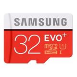 Micro Sd Samsung Evo Plus 32gb 80m/s Hc U1 Original