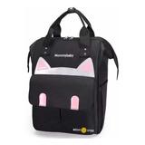 Bolso Maternal Pañalera Diseño Gatito Negro