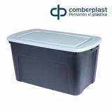 Pack 3 Cajas Plasticas Material Reciclado 125 Lts, Ecologica