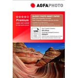 Papel Fotográfico Glossy Agfa Premium 10x15 210gr 100 Hojas