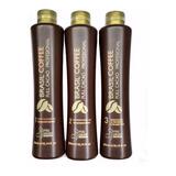 Keratina Alisante Brasil Coffee Full Cacao 500 Ml - 3 Pasos
