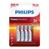 Pilas Aaa Philips Alcalinas Pack X4 1,5v
