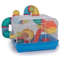 Jaula Hamster Con Tubos Completa 2 Pisos Barco De Animales