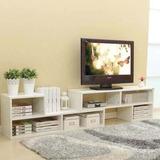 Mueble Rack Modular Tv Blanco 2 Piezas / Rebajas R4057