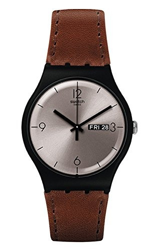 60d28f4ea469 Reloj Swatch   Lonely Desert  Quartz Plastic And Leather Cas