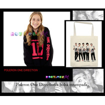 Polerones One Direction + Bolsa Estampada Personalizada.