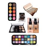 Pack Maquillaje Rubores/ Sombras/brochas/cejas Loveyes