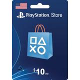 Tarjeta Psn Card 10 Dolares Ps4 Usa Digital - Prepagochile