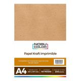 Papel Kraft Imprimible A4 200 Gr. 50 Hojas